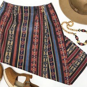 VINTAGE • southwestern print wrap skirt